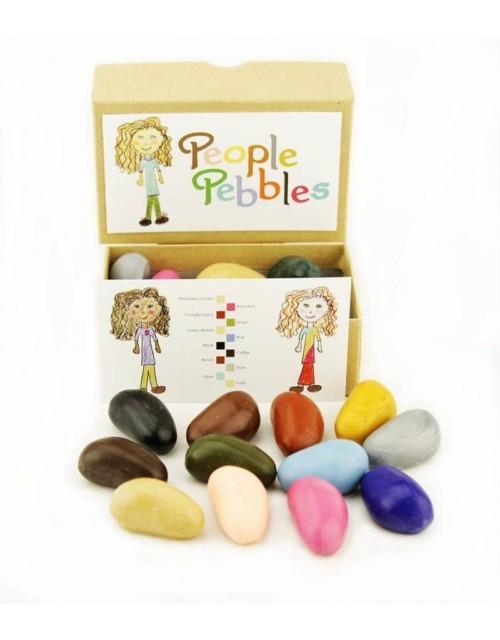 crayon-rocks-twelve-12-people-pebbles-krijtjes-in