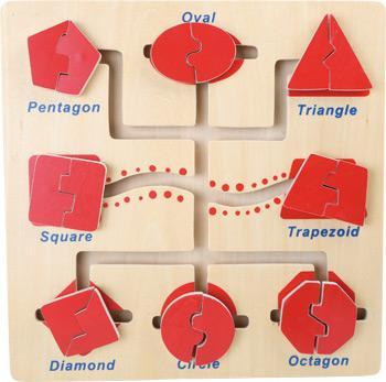 Motoriek trainer, houten puzzel
