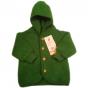 jWollen fleece jasje groen melange