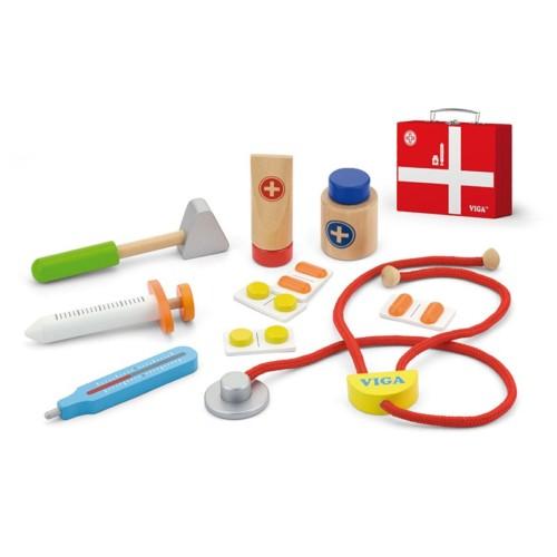 Doktersset in koffer, Viga Toys