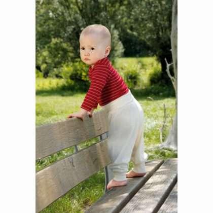 Babybroek van wol en zijde