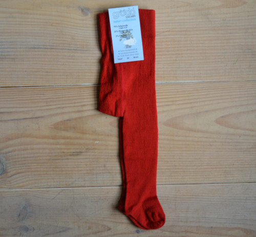 Baby maillot rood in wol katoen